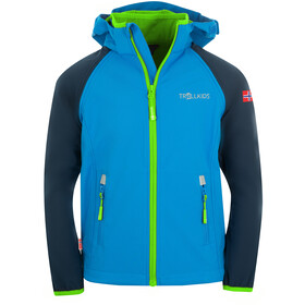 TROLLKIDS Rondane XT Zip Off Jas Kinderen, navy/med blue/green